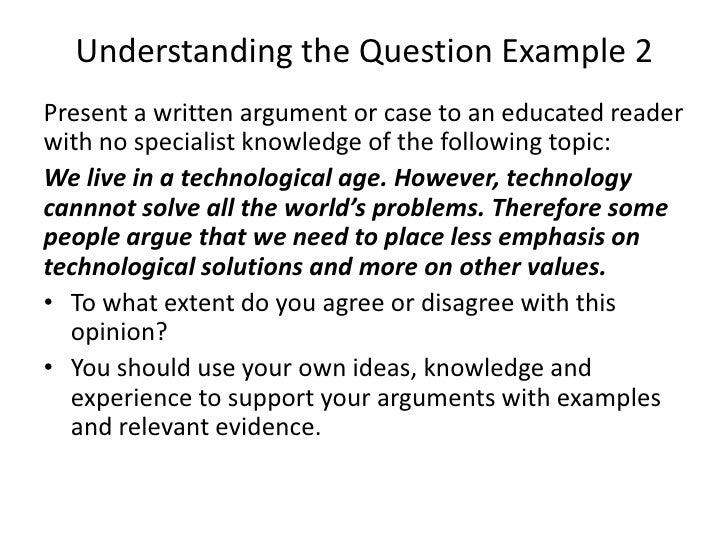 analysing an essay question