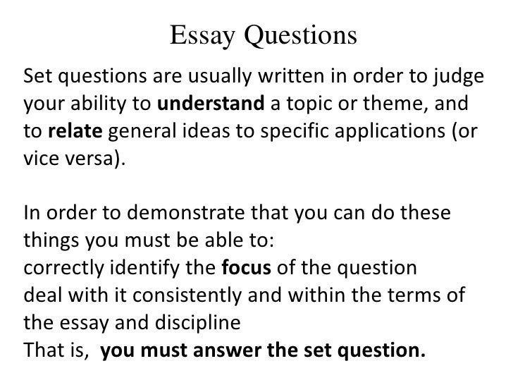 essay question terms Mycollegesuccessstorycom: empowering academic, college, and career success top 10 key words used in essay exam questions one way to improve your performance on essay exams is to have a better understanding of what the professor is seeking.