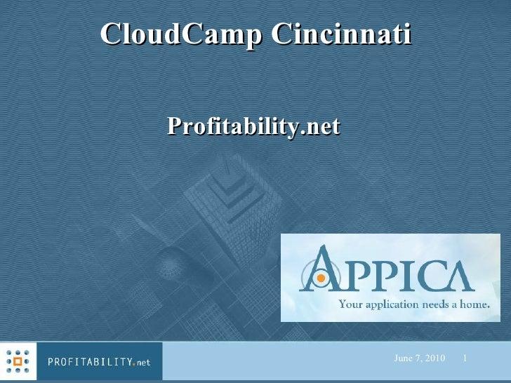 CloudCamp Cincinnati June 7, 2010   Profitability.net