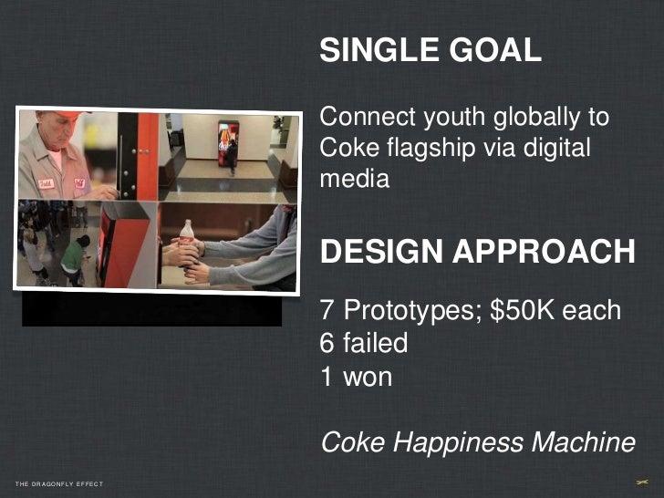 SINGLE GOAL                       Connect youth globally to                       Coke flagship via digital               ...