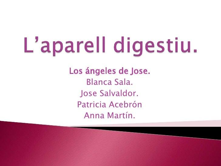 Los ángeles de Jose.     Blanca Sala.   Jose Salvaldor.  Patricia Acebrón    Anna Martín.