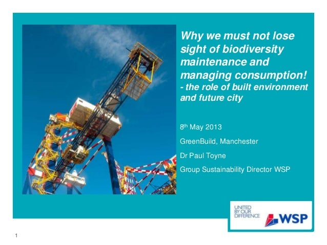 Why we must not losesight of biodiversitymaintenance andmanaging consumption!- the role of built environmentand future cit...