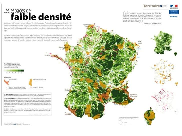 Les espaces de la faible densité