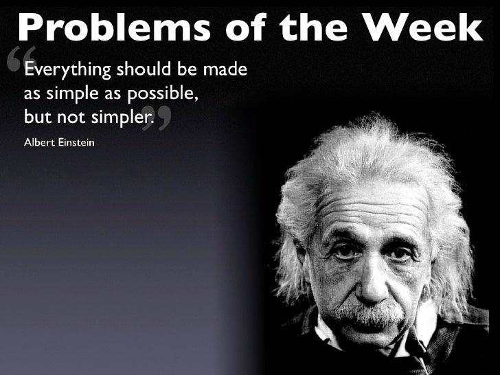 Problems of the Week