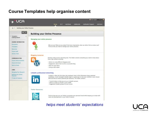 empower and enhance with blackboard course templates and community mo