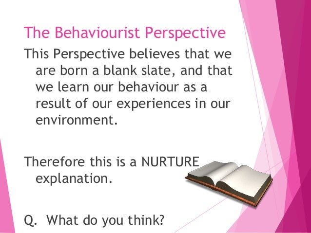Unit 8 Psychological Perspectives for Health and Social Care