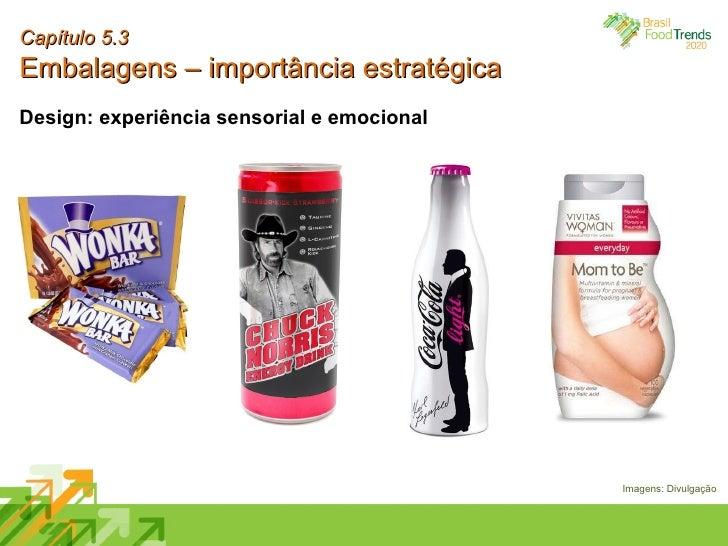 Capítulo 5.3 Embalagens – importância estratégica Design: experiência sensorial e emocional Imagens: Divulgação