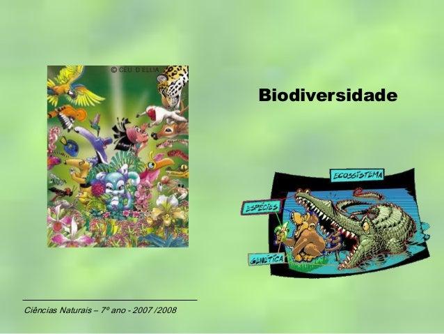 BiodiversidadeCiências Naturais – 7º ano - 2007 /2008
