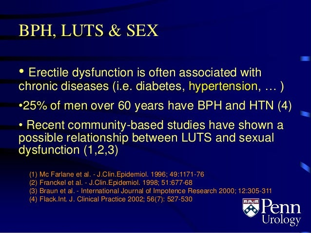 Bph sexual dysfunction