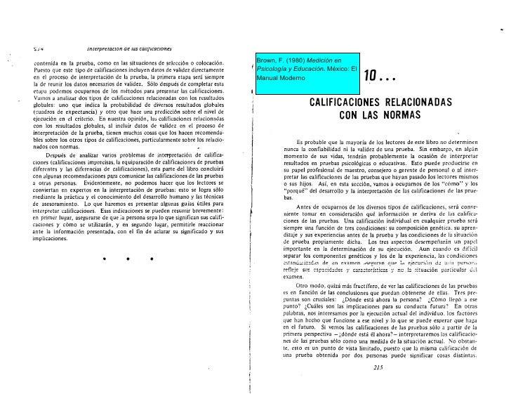 '   5i.i                  interpreracron ae ius caiificaciones       contenida en la prueba, como en las situaciones de se...
