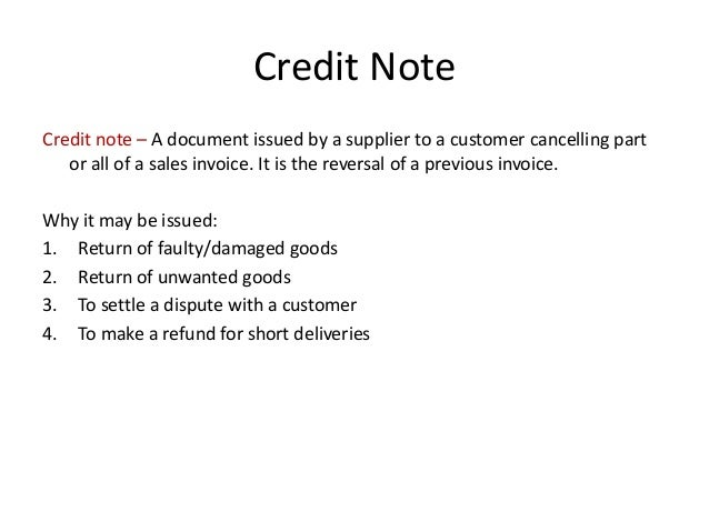 Business Documents For Credit Sales