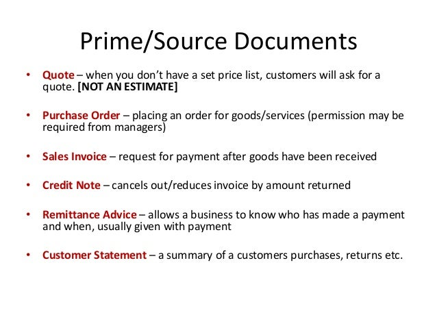 4 primesource documents - Business Documents