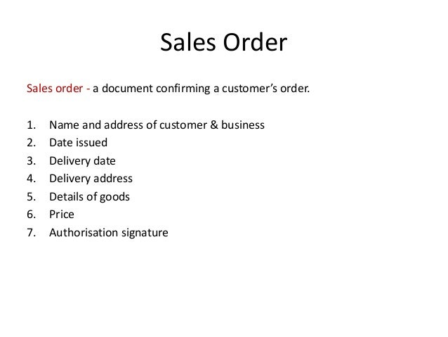 Business Documents (For Credit Sales)