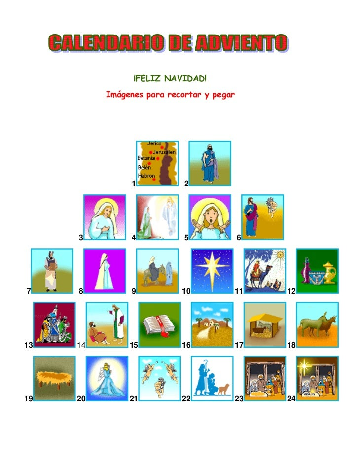 Calendario de adviento for Calendario adviento ninos