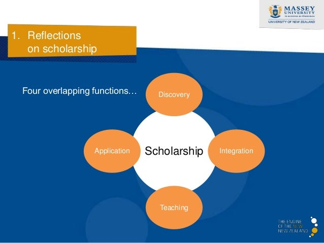 1. Reflections   on scholarship    Discovery…                                   Discovery    'Disciplined, investigative  ...