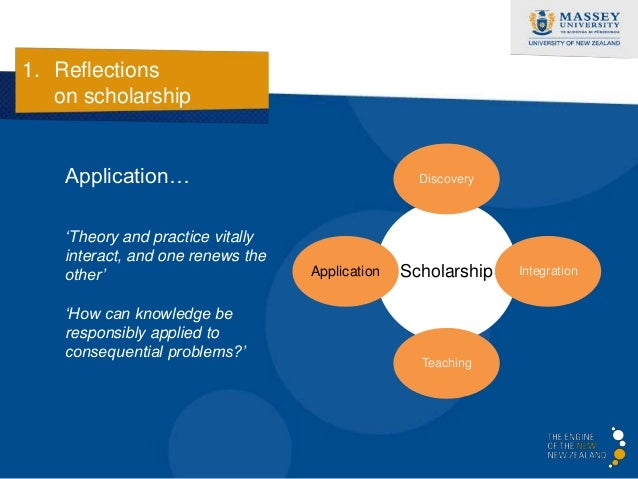 1. Reflections   on scholarship    Teaching…                                       Discovery    'Theory surely leads to   ...