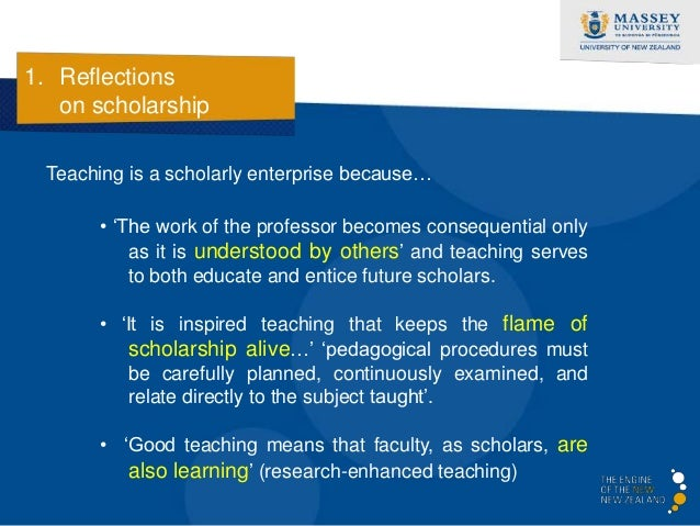 1. Reflections   on scholarship  Four primary orientations of research-enhanced teaching…            Griffiths, R. (2004)....