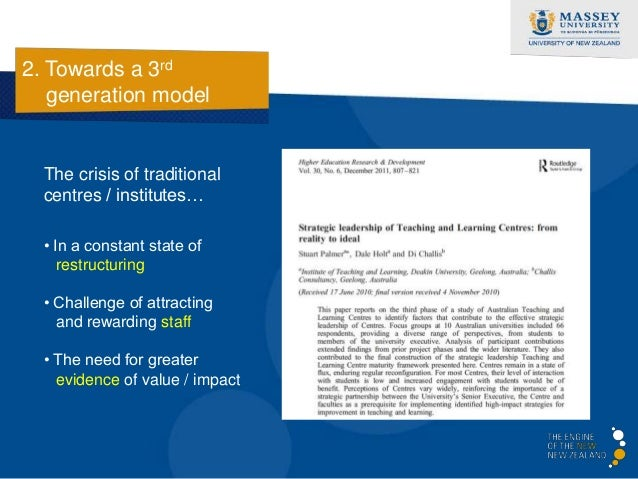 2. Towards a 3rd   generation model     Tracing history…            1st            2nd          3rd         Generation    ...