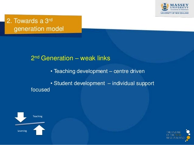 2. Towards a 3rd   generation model              3rd Generation – integrated service provision                         • T...