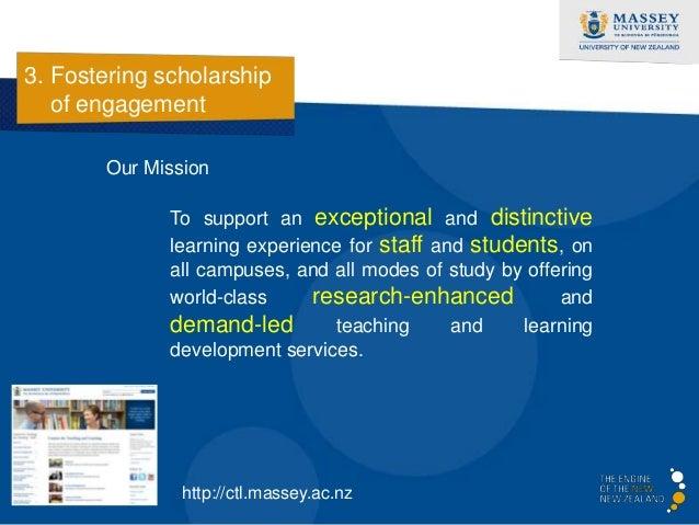3. Fostering scholarship   of engagement       Key principles…          • Understand teachersas learners          • Teachi...