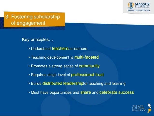 3. Fostering scholarship   of engagement                  Benchmarks (HEA)                                    Teaching Exc...