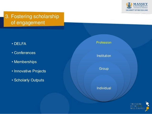 3. Fostering scholarship   of engagement                           • Innovation Hub                           • Global Thi...