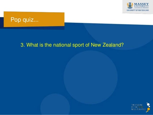 Pop quiz...   3. What is the national sport of New Zealand?