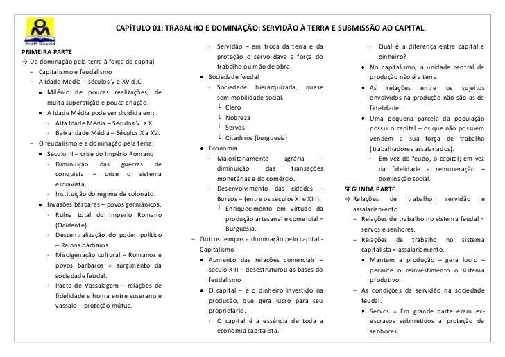 CAPÍTULO 01: TRABALHO E DOMINAÇÃO: SERVIDÃO À TERRA E SUBMISSÃO AO CAPITAL.                                               ...