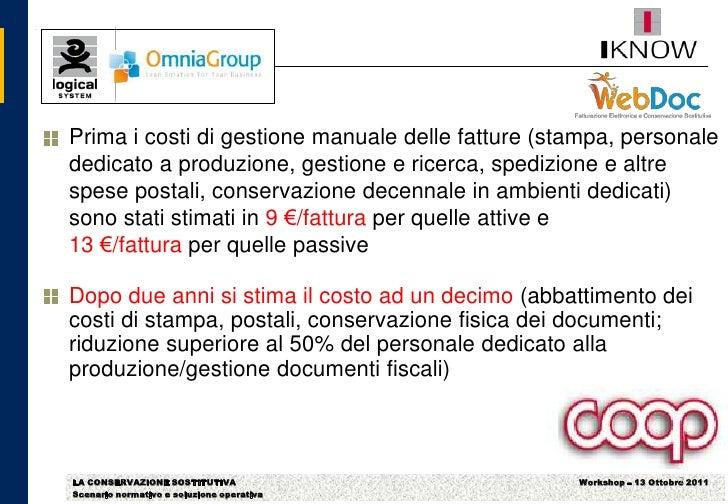 1 case studies coop italia for Stima del costo di due auto garage