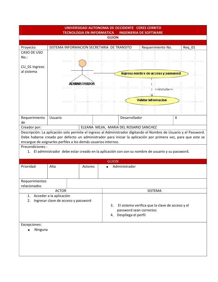 UNIVERSIDAD AUTONOMA DE OCCIDENTE CERES CERRITO                          TECNOLOGIA EN INFORMATICA INGENIERIA DE SOFTWARE ...