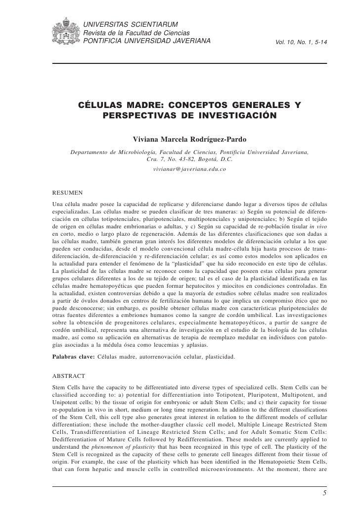 UNIVERSITAS SCIENTIARUM             Revista de la Facultad de Ciencias                                      Enero-junio de...