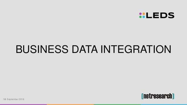 BUSINESS DATA INTEGRATION 13. September 20164