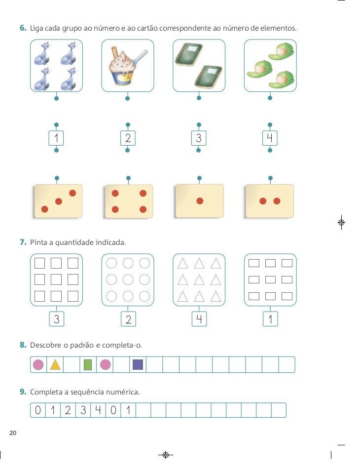 6. Liga cada grupo ao número e ao cartão correspondente ao número de elementos.              •                    •       ...