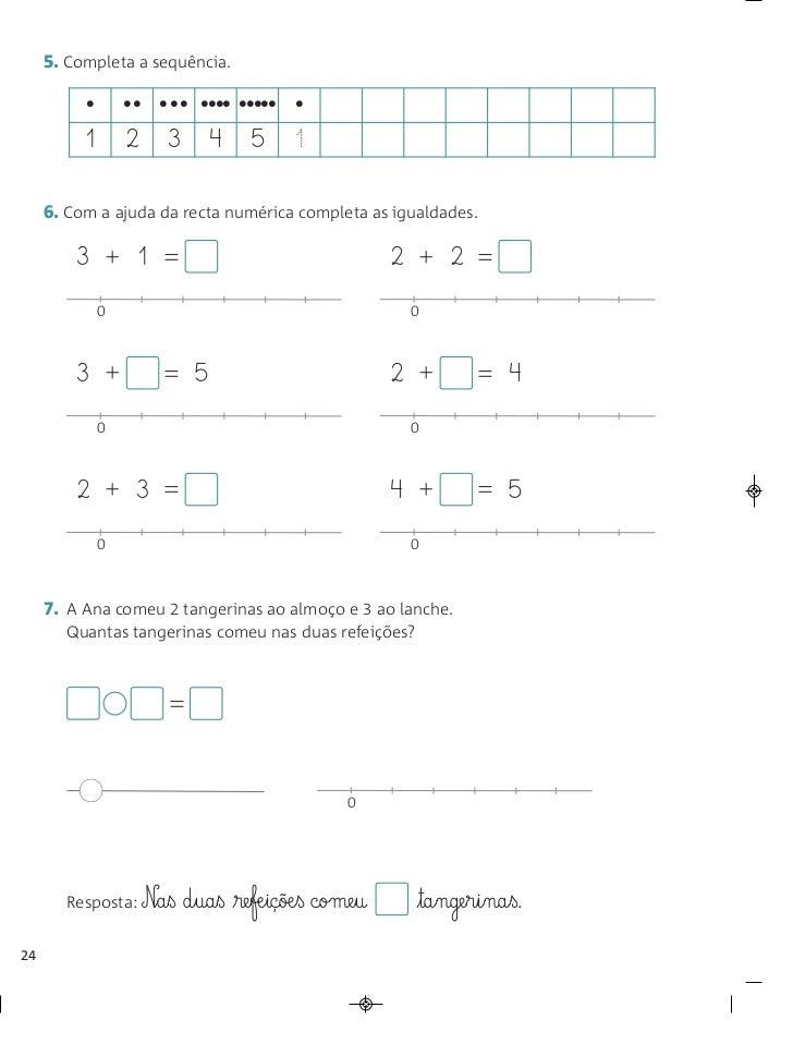 5. Completa a sequência.          •       •• ••• •••• ••••• •          1       2   3      4     5      1     6. Com a ajud...