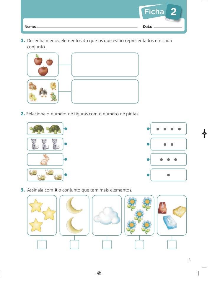 Ficha    2 Nome:                                                     Data:1. Desenha menos elementos do que os que estão r...