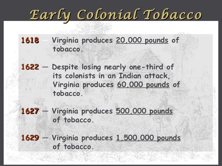 Smoking hazards tobacco cultivation in colonial