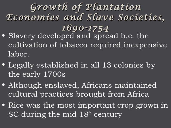 reasons for slavery in colonial america