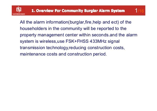 community burglar alarm system Slide 2