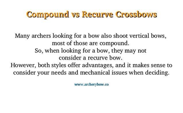 Compound vs Recurve Crossbows