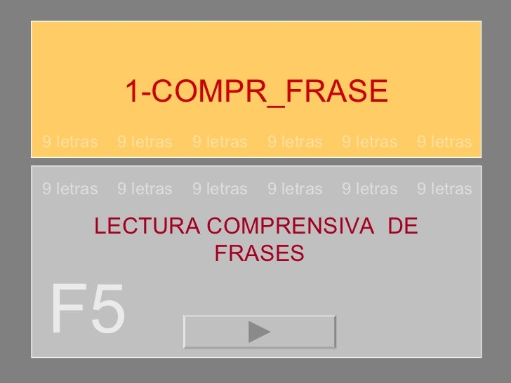 1-COMPR_FRASE F5 9 letras  9 letras  9 letras  9 letras  9 letras  9 letras 9 letras  9 letras  9 letras  9 letras  9 letr...
