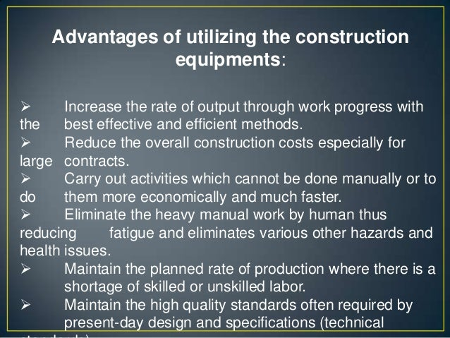 construction equipment policy pdf