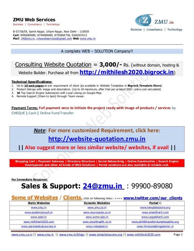 www.zmu.co.in || www.zmu.in || www.zmu.in/blogs || www.templateszone.org || www.mithilesh2020.com Page 1ZMU Web ServicesBu...