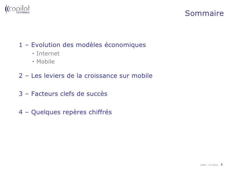 Sommaire<br />1 – Evolution des modèles économiques<br /><ul><li>Internet