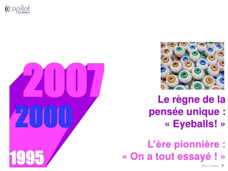 L'évolution des modèles économiques sur Internet<br />2000<br />L'ère pionnière :<br /> «On a tout essayé !»<br />1995<b...