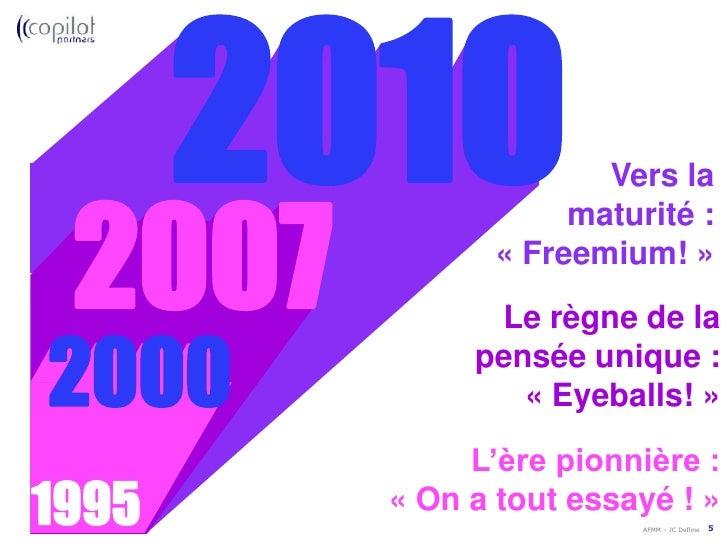 2007<br />000<br />2000<br />Le règne de la<br />pensée unique :«Eyeballs!»<br />L'ère pionnière :<br /> «On a tout ess...