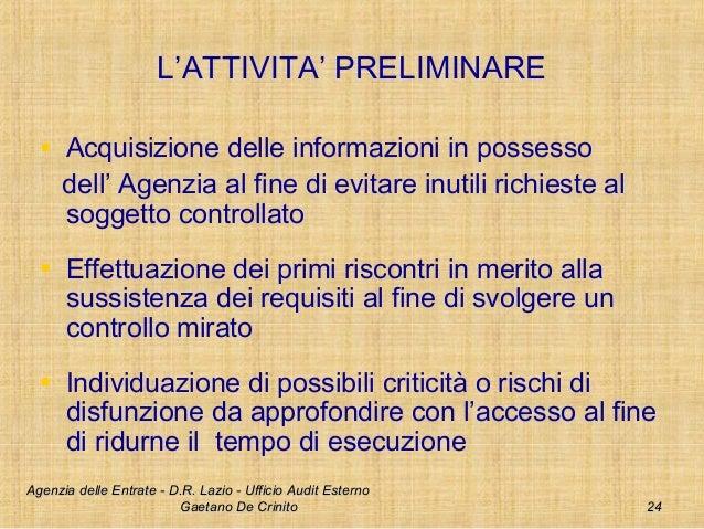 L attivit di audit nell agenzia delle entrate for Accesso agenzia entrate