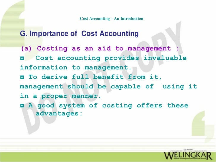 introduction to cost management View notes - introduction to cost and management accounting from biz 101 at business school barcelona chapter 1 introduction to cost and management accounting in a global business.