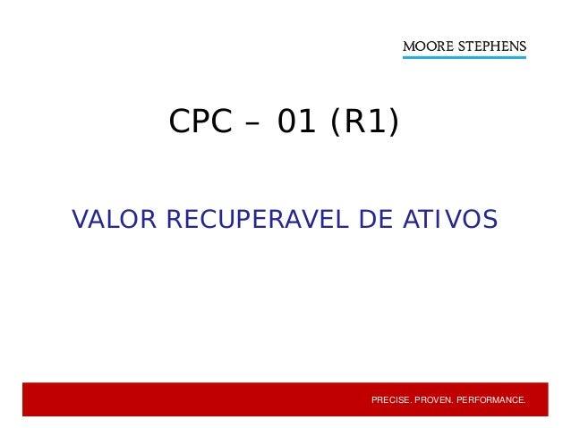 CPC 01 (R1) - Redução ao Valor Recuperável de Ativos Slide 2
