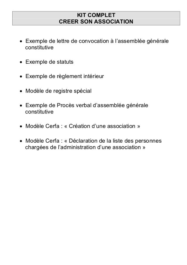 1 Creation Kit Complet Creer Son Association