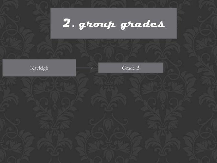 2. group gradesKayleigh           Grade B
